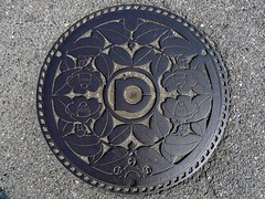 Kota Aichi, manhole cover  (MRSY) Tags: flower japan  manhole  aichi kota