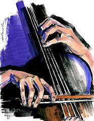 30-04-16s (Irina V. Ivanova) Tags: musician music ink sketch hands play hand drawing cello gouache cellist violoncello 365sketches violoncellist