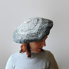Ombr Gray Beret Hand Knitted (branda knits) Tags: handmade gray knits etsy beret branda handknitted ombregray
