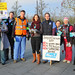 Junior Doctors Strike Picket at Norfolk and Norwich University Hospital