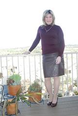 Pleather Skirt (krislagreen) Tags: pumps cd skirt hose tgirl transgender transvestite heels crossdress tg pleather patent feminization tneck feminized