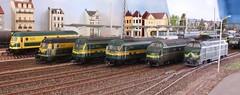 Diesel parade met reeks 59 en 62 (Ignace Vanbiervliet) Tags: ho nmbs modelspoor normaalspoor riddersbrugge