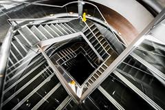 Caution: Wet Floor (Sean Batten) Tags: city england urban london stairs spiral nikon unitedkingdom steps caution gb carpark d800 wetfloor towerplace 1424