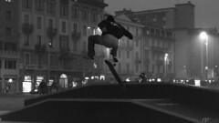 Jump! #freedom (Gi_shi) Tags: street bw photography nikon italia bn skater lombardia varese bnw biancoenero nikonitalia iamnikon d7200