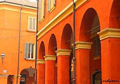 colori di modena 1 (archgionni) Tags: windows red italy art colors yellow architecture italia arte giallo modena picturesque rosso colori arcs archi finestre costruzioni buildins totalphoto