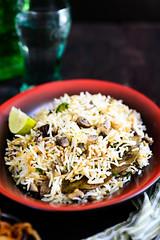 Mushroom and Spring Onion Pulao 1 (Whisk Affair) Tags: mushroom pilaf springonion pulao