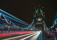 Tower Bridge (Sue MacCallum-Stewart) Tags: city longexposure bus london cars night towerbridge lights vehicles lighttrails