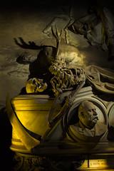 i desire to lay my bones there besides, the penitent king (gh0stdot) Tags: italy sculpture monument cemetery grave statue canon skeleton skull tomb genoa genova scythe 60d bestviewedonamac flashpainting