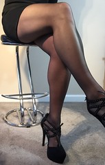 (karencd28) Tags: high legs cd smooth shaved tights heels crossdresser wolfords
