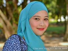 2016-01a Facing Exempt Langkawi (02) (Matt Hahnewald) Tags: beach beautiful face smiling closeup eyes eyecontact asia southeastasia emotion outdoor turquoise hijab makeup posing streetportrait headshot malaysia redlips langkawi ethnic oneperson 43aspectratio kuah muslima 1malaysia facingtheworld nikond3100 nikkorafs50mmf18g malaysianmalaywoman matthahnewaldphotography