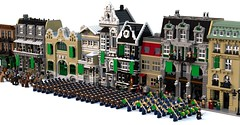 Amestrian Parade - Resembool (Matthew McCall) Tags: city men army march war lego military parade huge soldiers minifig