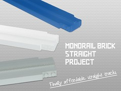 Kickstarter Project: Monorail Brick Straight (THE BRICK TIME Team) Tags: brick track lego buy straight monorail fett kickstarter