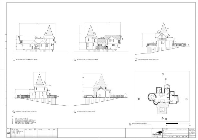 TreeHouse Plan 3 Elevations