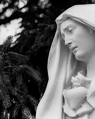 Mary (dalenewsted) Tags: bw statue blackwhite virginmary motherofgod themadonna ourlady saintmary holymary queenofheaven ourladyofthesnows holyvirgin immaculatemary theblessedmother theblessedvirginmary