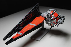 Black Ops Tie Fighter Main ([C]oolcustomguy) Tags: black brick star fighter force arms lego forum contest tie vehicle wars ops awaken the awakens brickarms
