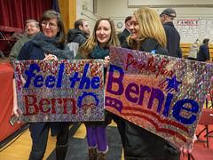 Bernie Sanders (John M Poltrack) Tags: sign women indoor politicians supporters berniesanders feelthebern