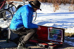 Putting the Guitar Away (Vegan Butterfly) Tags: winter people musician music public march justice edmonton action guitar rally environmental peoples event alberta activism environmentalism legislature injustice climate grounds guitarist activists advocacy environmentalists