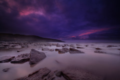 """ VERY EARLY ONE MORNING "" (Wiffsmiff23) Tags: longexposure storm beach southwales rocks dramatic drama epic rockpool southerndown traeth dunravenbay witchespoint heritagecoastlinesouthwales"