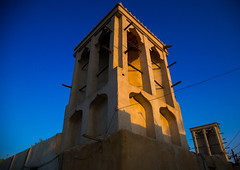 wind tower used as a natural cooling system in iranian traditional architecture, Qeshm Island, Laft, Iran (Eric Lafforgue) Tags: city travel urban building tower tourism horizontal architecture outdoors photography persian asia day desert iran traditional towers middleeast culture persia bluesky nobody architectural catcher orient cultural persiangulf windcatcher windtower badgir qeshmisland laft hormozgan coolingsystem  buildingexterior   iro straitofhormuz  builtstructure colourpicture  irandsc01828