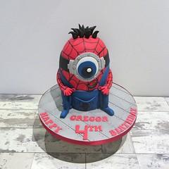 Spiderman Minion (A Cherry On Top Scotland) Tags: cake fife spiderman birthdaycake 4thbirthday burntisland minion cherryontop clairesara spidermanminion acherryontopscotland vowswinner2015