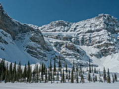 Crowfoot Glacier, Banff National Park, Alberta (Cwep) Tags: canada blackwhite artistic location alberta banffnationalpark 2011 crowfootglacier
