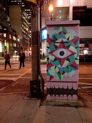 the eye (Ian Muttoo) Tags: street toronto ontario canada night walking walk gimp richmond motionblur yonge 20160108182646edit