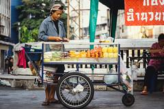 Nameless (jermantjw) Tags: street city travel food holiday money streets art heritage home fruits fruit thailand photography chinatown day afternoon market outdoor bangkok sony tourist cart alpha seller 18105 sampeng yaowarat a6000 sonya6000 jermantjw