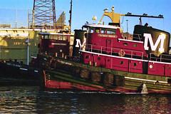 Patricia Moran & Hawkins Point (Tim Pohlhaus) Tags: city point harbor pier broadway maryland baltimore fells tug moran patricia hawkins