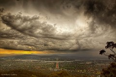 Canberra storms (acaffery) Tags: sky storm rain canberra lakeburleygriffin mountainslie