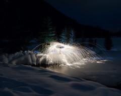Where the wild things roam. (Brendinni) Tags: longexposure lightpainting washington snoqualmiepass steelwool