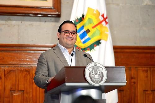 El gobernador Javier Duarte de Ochoa sostuvo Encuentro con Medios de Comunicación.