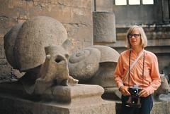 "Barcelona, Poul Henrik beside Gaudi's ""giant snail"" gargoyles (cayugahull08) Tags: barcelona sculpture spain snail gargoyle gaudi kansas gargoyles sagradafamilia topeka snails steveclark giantsnails"