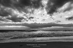 ...The Storm is Coming... (Barbarroja Pictures) Tags: sunset sea sky blackandwhite espaa sun white storm black beach water clouds landscape spain sand mediterranean bn shape barbarroja