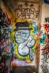 Keep on Walking (Thomas Hawk) Tags: california usa abandoned america graffiti berkeley unitedstates unitedstatesofamerica eastbay oldcrow flintink carbonwarehouse