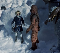 Alright Chewie you go on the other side and get its attention. (chevy2who) Tags: black toy star starwars back action probe esb empire figure imperial series wars strikes droid chewbacca hasbro hansolo hoth episodev tauntaun blackseries sixinch