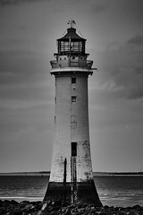 Perch Rock lighthouse 4 (another_scotsman) Tags: blackandwhite lighthouse seascape river landscape mersey perchrock