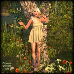 Merrily up the garden path (JuliannaSeriman) Tags: fairy sarawak ikon tableauvivant gacha fairygarden slink fabfree fabulouslyfree mutinyinheaven lumae secondlifegacha juliannaseriman truthordareaffair