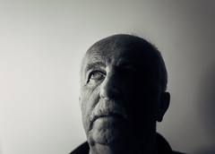 The Man #1 (Tim Bow Photography) Tags: light shadow portrait man face wales dark eyes focus dad father vision age papa british welsh generation portraitphotography blackandwhiteportrait lowlightportrait welshportraitphotographer timbowphotography