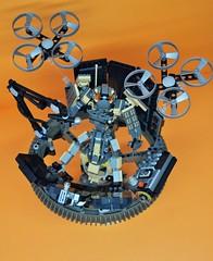 Decibelle_19 (Shadowgear6335) Tags: orange radio robot factory lego good technic hero bionicle mech moc shadowgear6335 bionicle2015