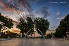 ~Dawn, Anna Square~ (Saravanan Ekambaram) Tags: sky anna heritage clouds marina sunrise landscape dawn cityscape madras marinabeach chennai hdr tamilnadu samadhi annasquare samadhu