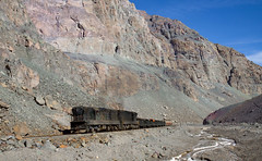 Uphill through the canyon (david_gubler) Tags: chile train railway llanta potrerillos ferronor