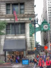 Marshall Field Company Store- Chicago IL (2) (kevystew) Tags: chicago clock illinois clocktower departmentstore macys cookcounty us14 us41 nationalhistoriclandmark nationalregister nationalregisterofhistoricplaces marshallfieldandcompany