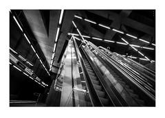 Metropolis (csaba peterdi) Tags: bw lines underground subway construction budapest metropolis gellrt constructive metr