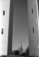 Analog Photography Shot #11 (VanDan Photography) Tags: street beach monochrome analog lens photography 50mm noir streetphotography ombre hp5 et extérieur blanc ilford bayonne biarritz bulding zup id11