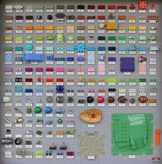Full Colour Chart (BF Bricks) Tags: lego colour chart display color frame 3001 collection brick