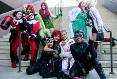 DSC_1345 edit (SavannahHo) Tags: costume colorful cosplay awesome dressup superman longbeach convention superhero batman joker supergirl press villain comiccon catwoman poisonivy harleyquinn cosplayers suicidesquad lbce