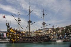 Porto Antico (Matthew on the road) Tags: old italy port ancient italia ship harbour liguria vessel genoa genova april 2016 april2016