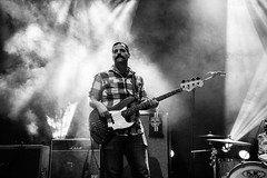 The Crowes (redrospective) Tags: music white london grey concert bass smoke gig moustache bassist koko dryice spotlights shortlist april2016 brianfallonandthecrowes 20160408