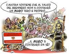 Il Muro del Brennero (Moise-Creativo Galattico) Tags: muro austria vignette satira brennero attualit moise giornalismo razzismo migranti editoriali moiseditoriali editorialiafumetti
