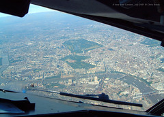 A view over london (Chris Brady 737) Tags: london thames bridges housesofparliament londoneye bigben aerial buckinghampalace hydepark southwark